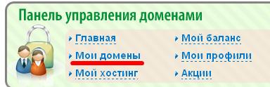 прикрепляем домен с 2domains.ru к новому хостингу