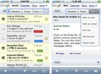Gmail app - приложение Gmail под iPhone