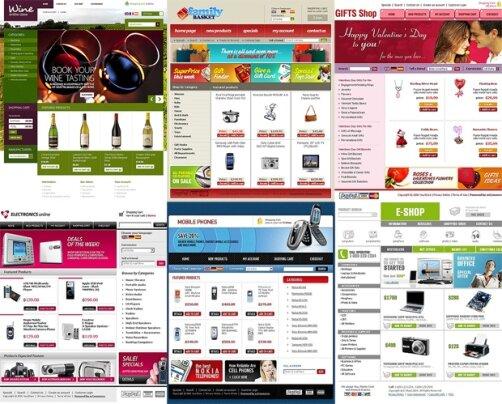 создание сайт на osCommerce от TemplateMonster