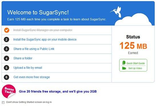 sugarsync - расширяем объем облака