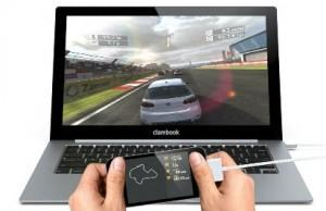 Смартфон превращается в ноутбук – док-станция ClamBook